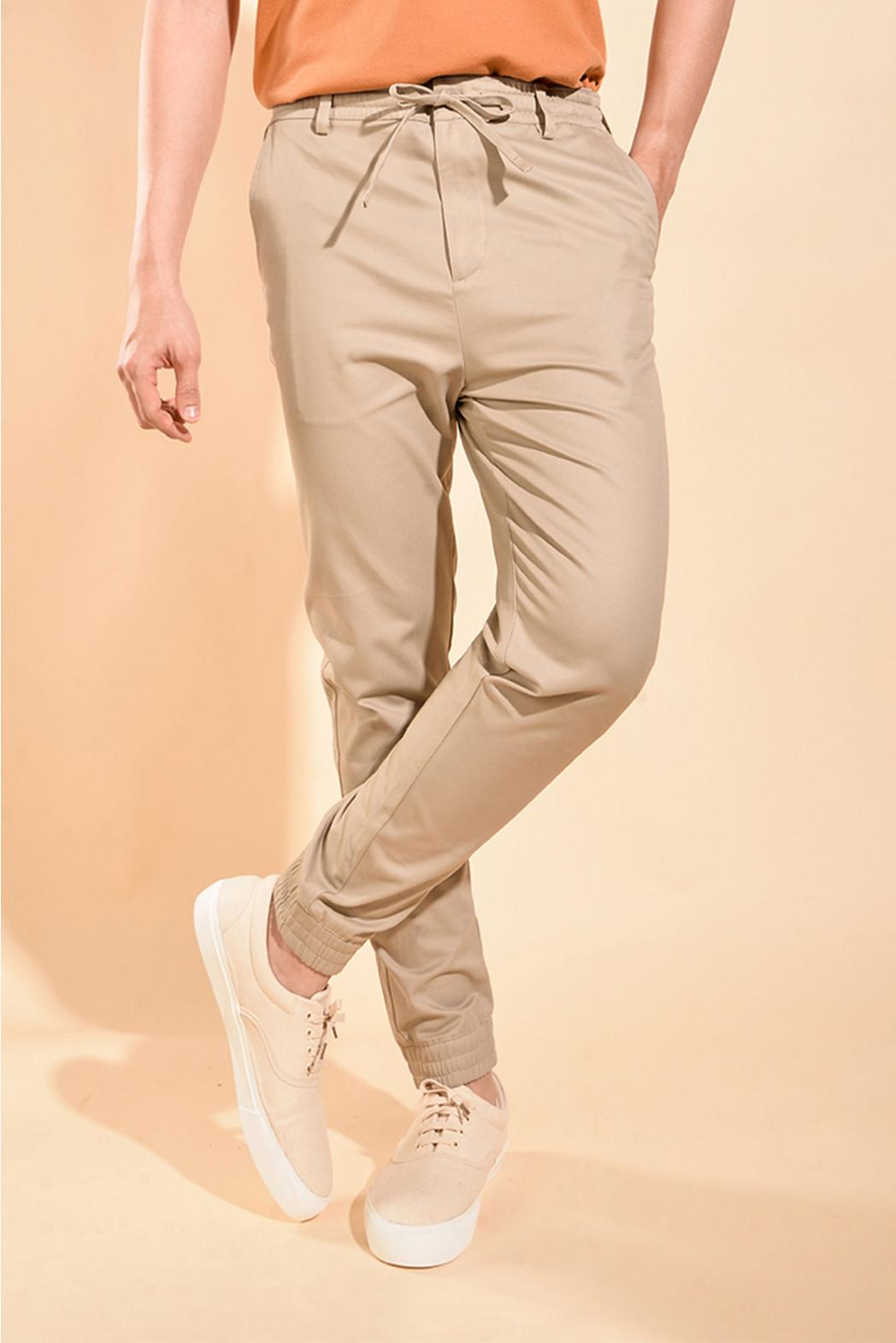 Quần Jogger Khaki. Cotton. Regular form PK08-F19 - 10F19PJO008