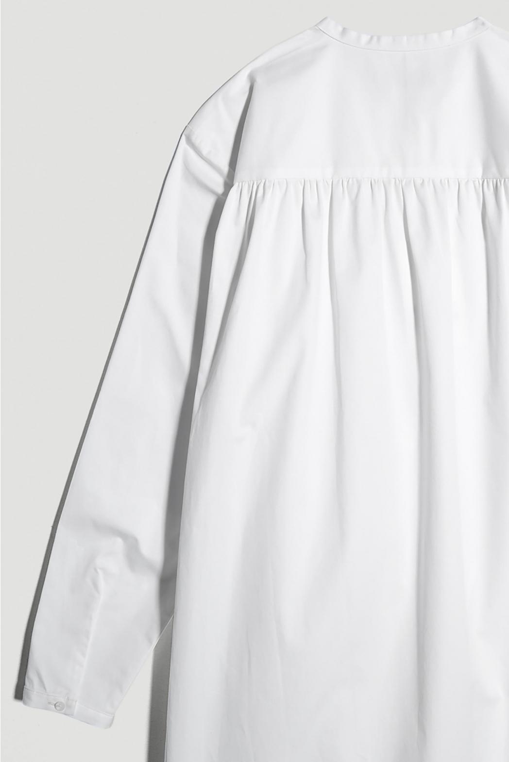 Đầm cài nút 1 bên. Cotton twill - 10F20DREW006