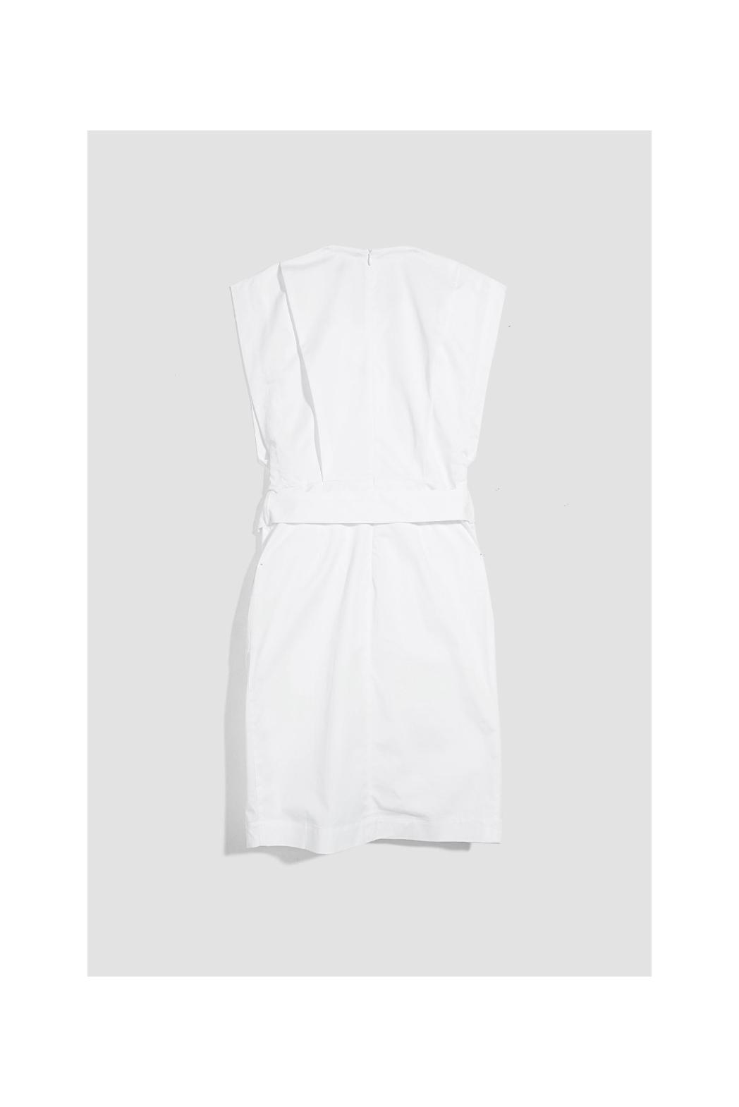 Đầm xếp li thân trước. Cotton twill silk - 10F20DREW013