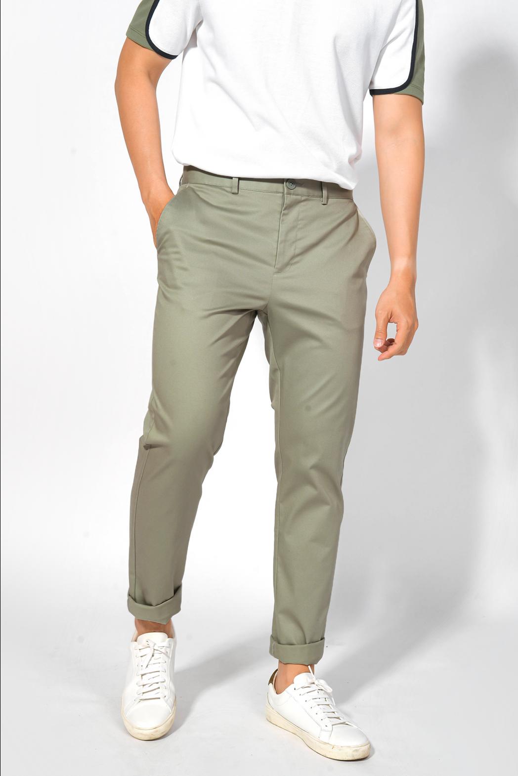 Quần Khaki. Cotton. SLIM CROP form - 10F20PCA007