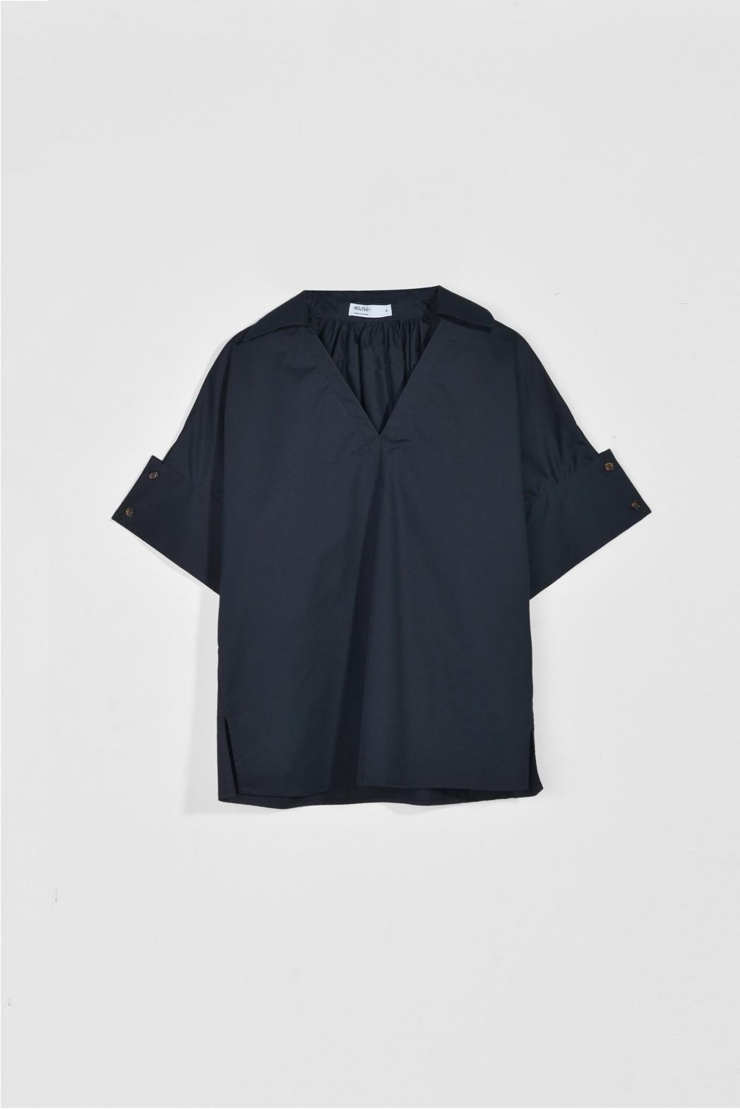 Áo kiểu măng séc to. Cotton twill silk - 10F20SHSW005