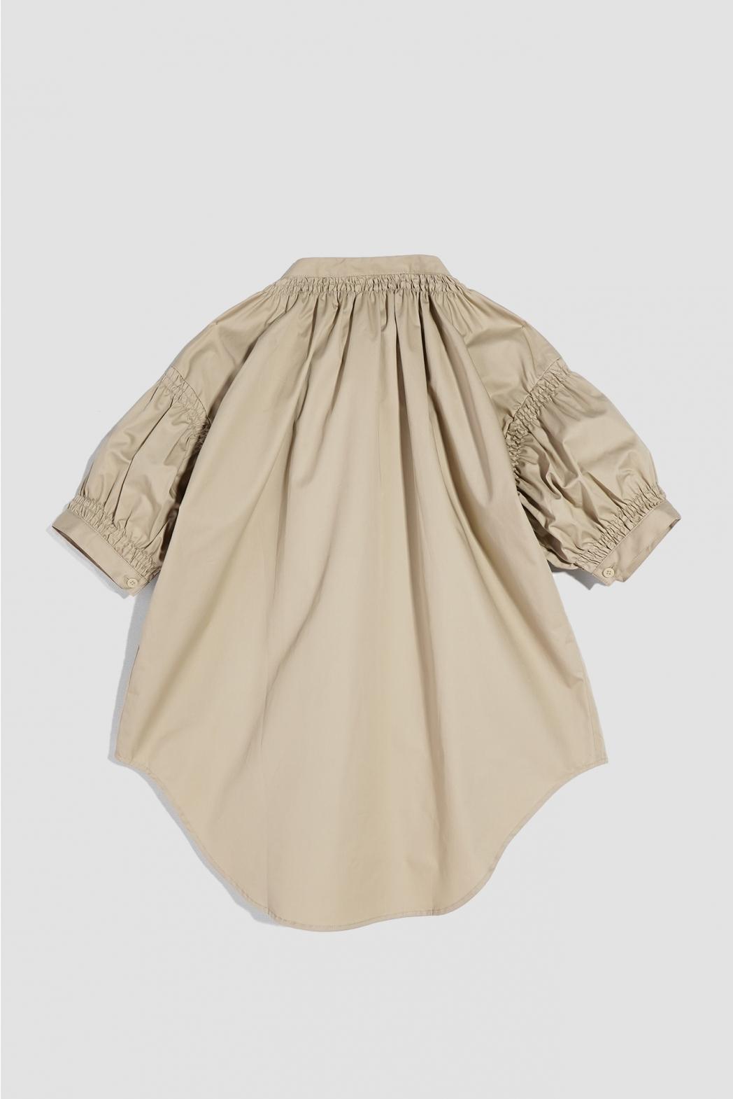 Áo sơ mi tay ngắn, có nhún. Cotton twill silk - 10F20SHSW006