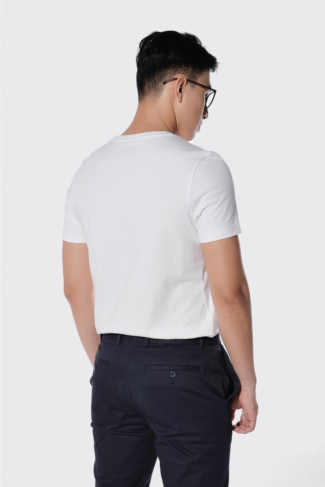 Áo thun tay ngắn. Cotton. Fitted form - 10F20TSH001