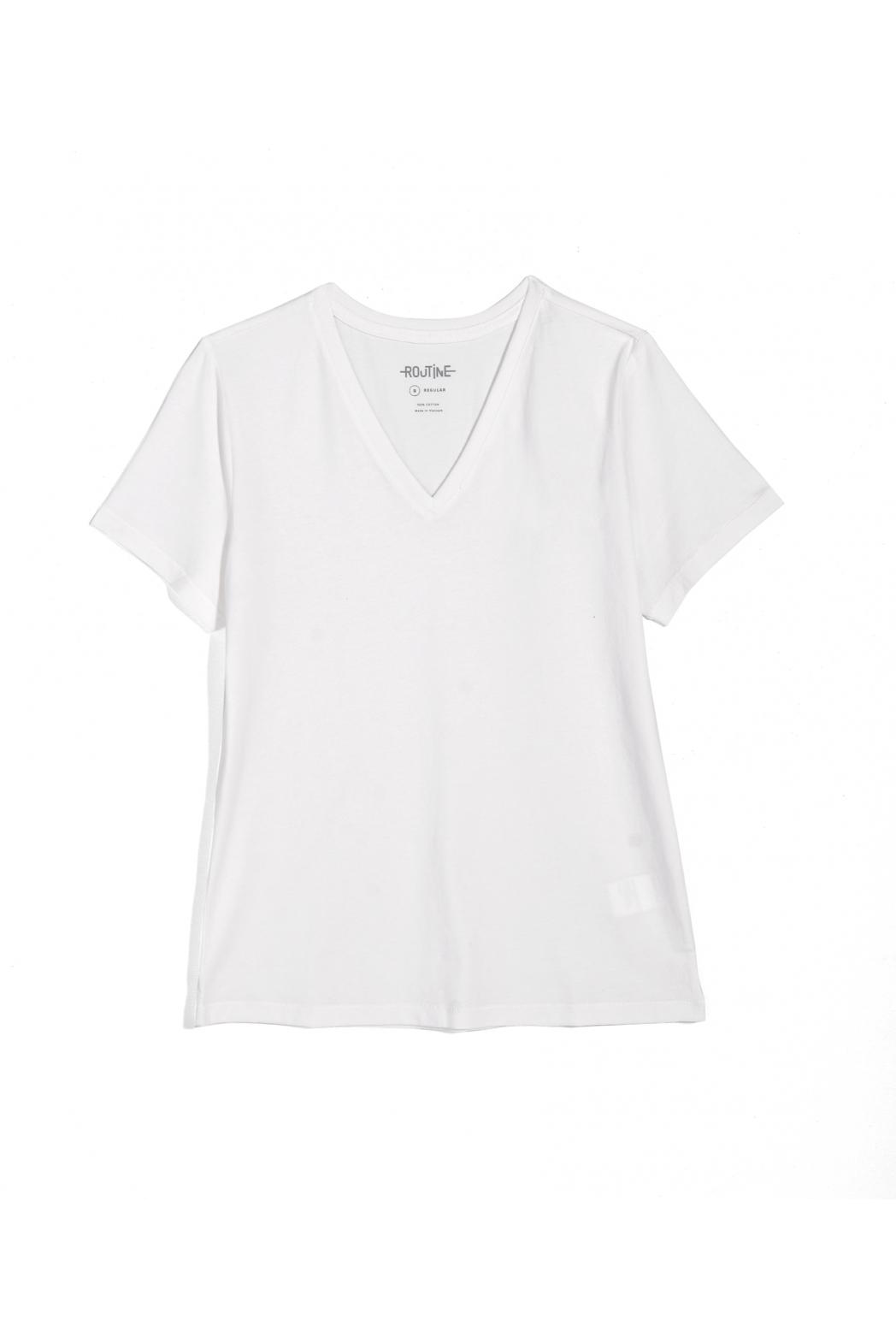 Áo thun tay ngắn, cổ V. Cotton - 10F20TSHW001