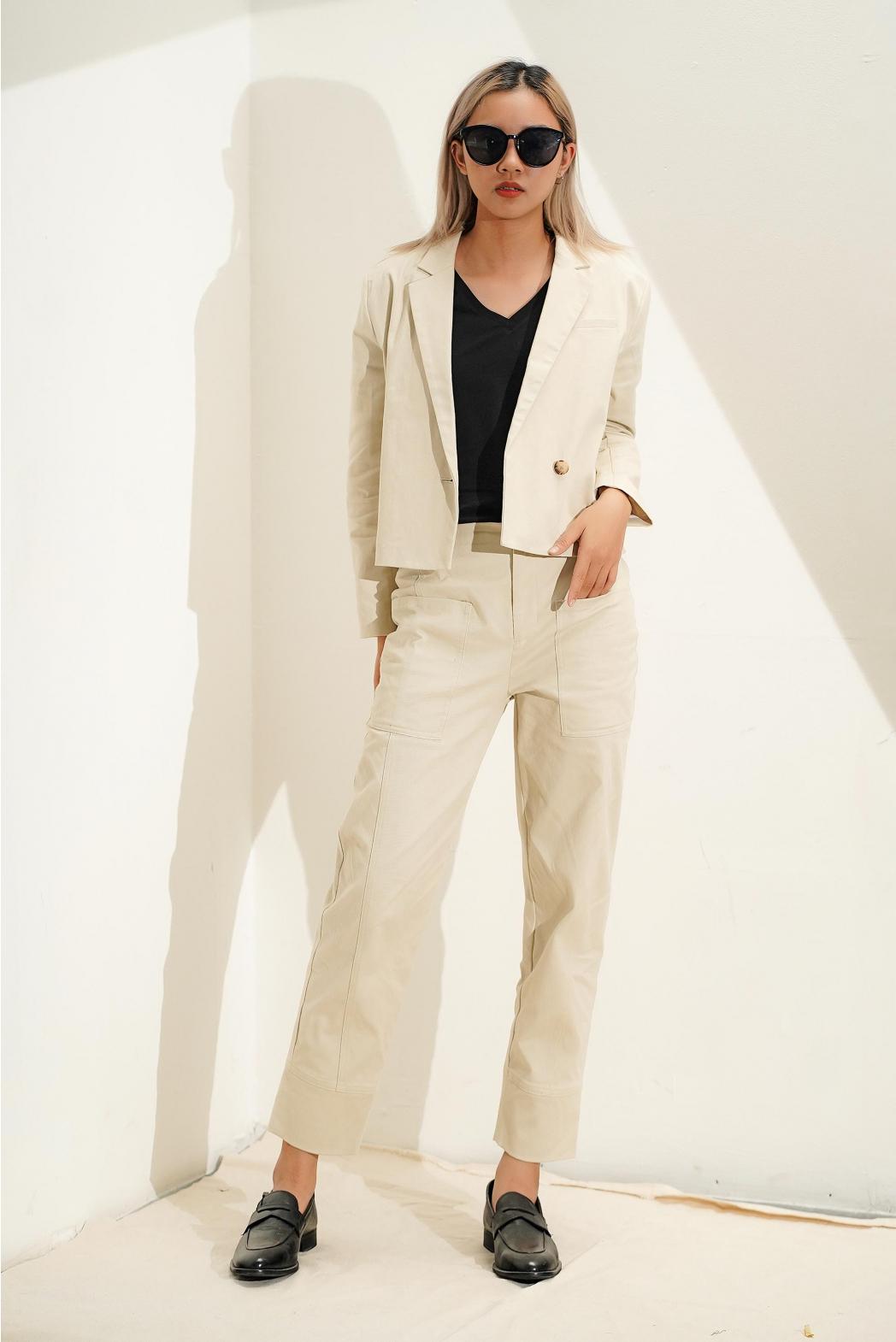 Áo Blazer tay dài. Cotton/spandex - 10F20VESW006