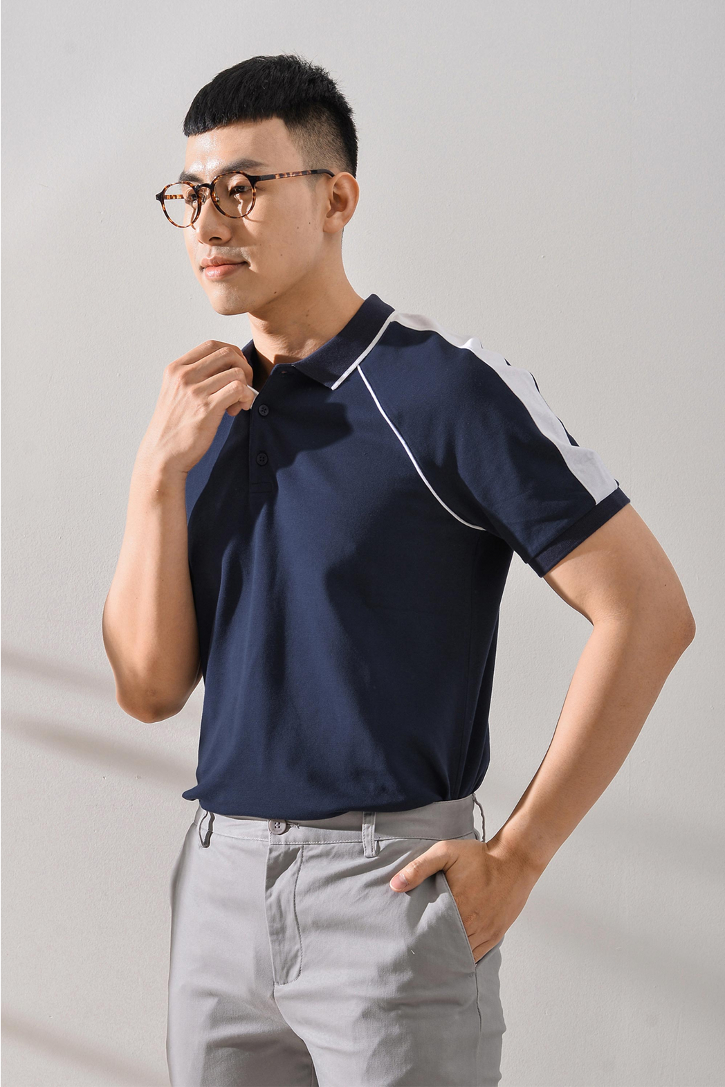 Áo Polo. Cotton. Fitted form - 10S20POL008