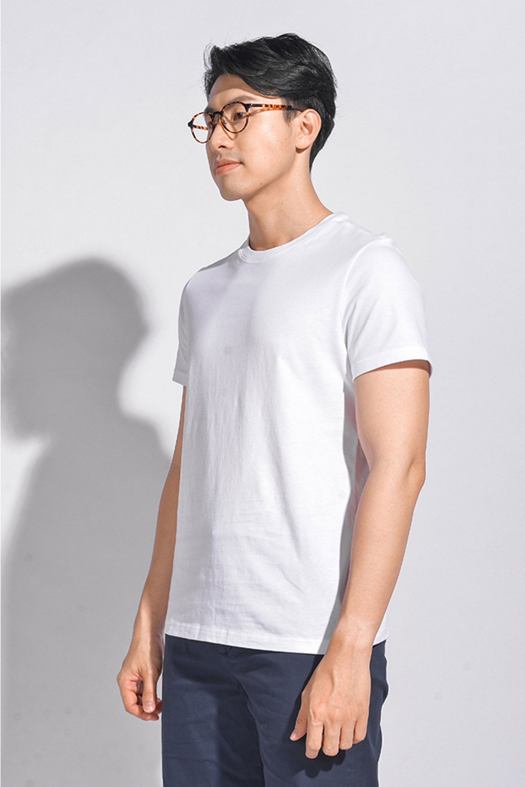 Áo thun tay ngắn, solid. Cotton. FITTED form - 10S20TSH037