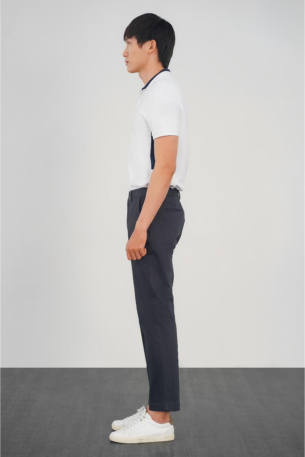 Áo polo phối màu, decor Rib. FITTED form - 10S21POL016