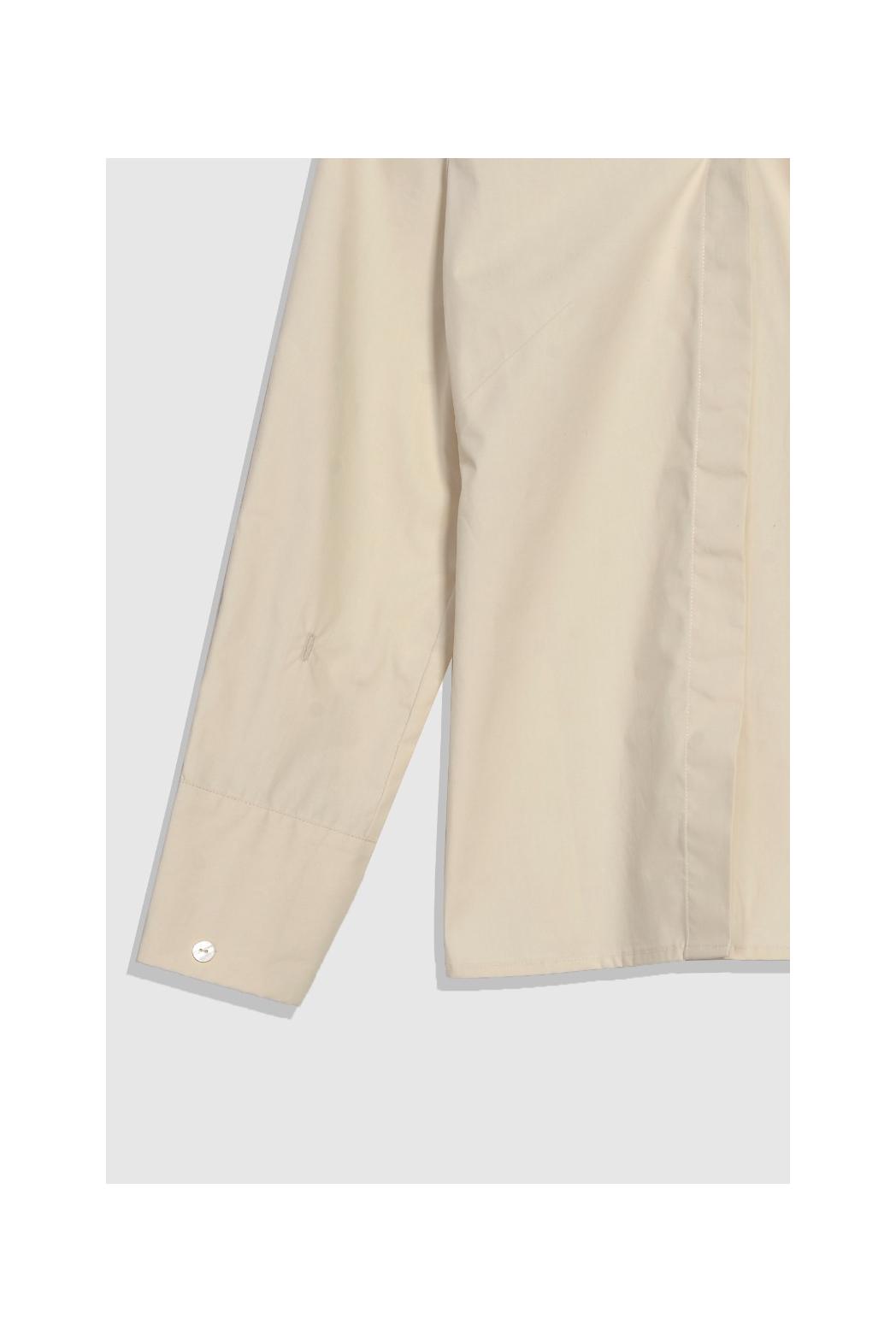 Áo kiểu tay dài nhún thun vai - 10S21SHLW005