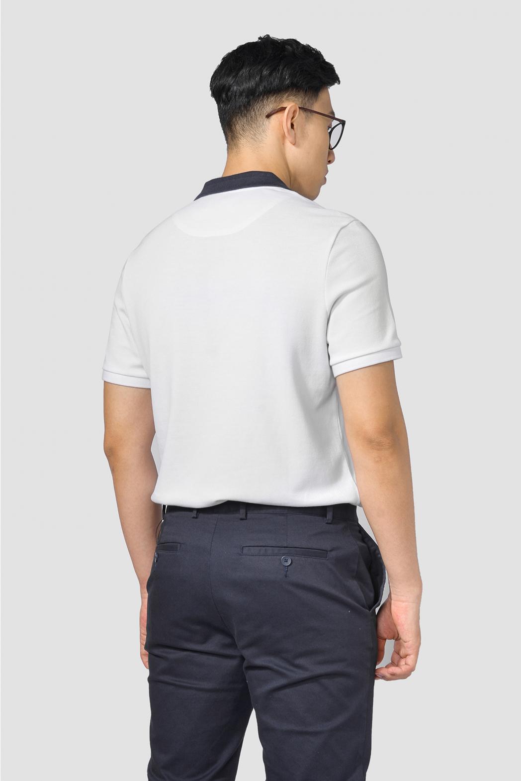 Áo Polo có Rib phối màu. FITTED form - 10F20POL013