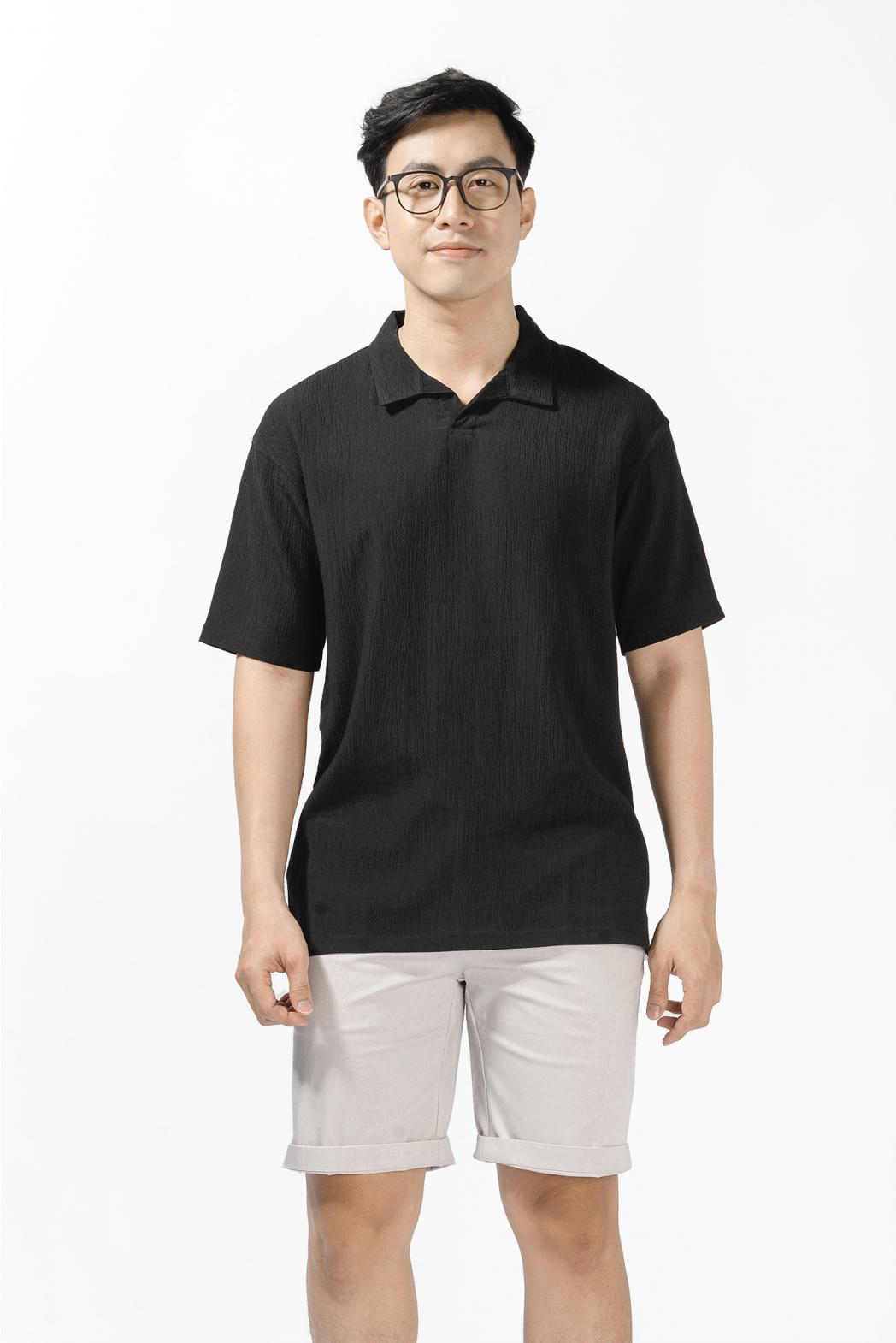 Áo polo vải gân. LOOSE form - 10S21POL013