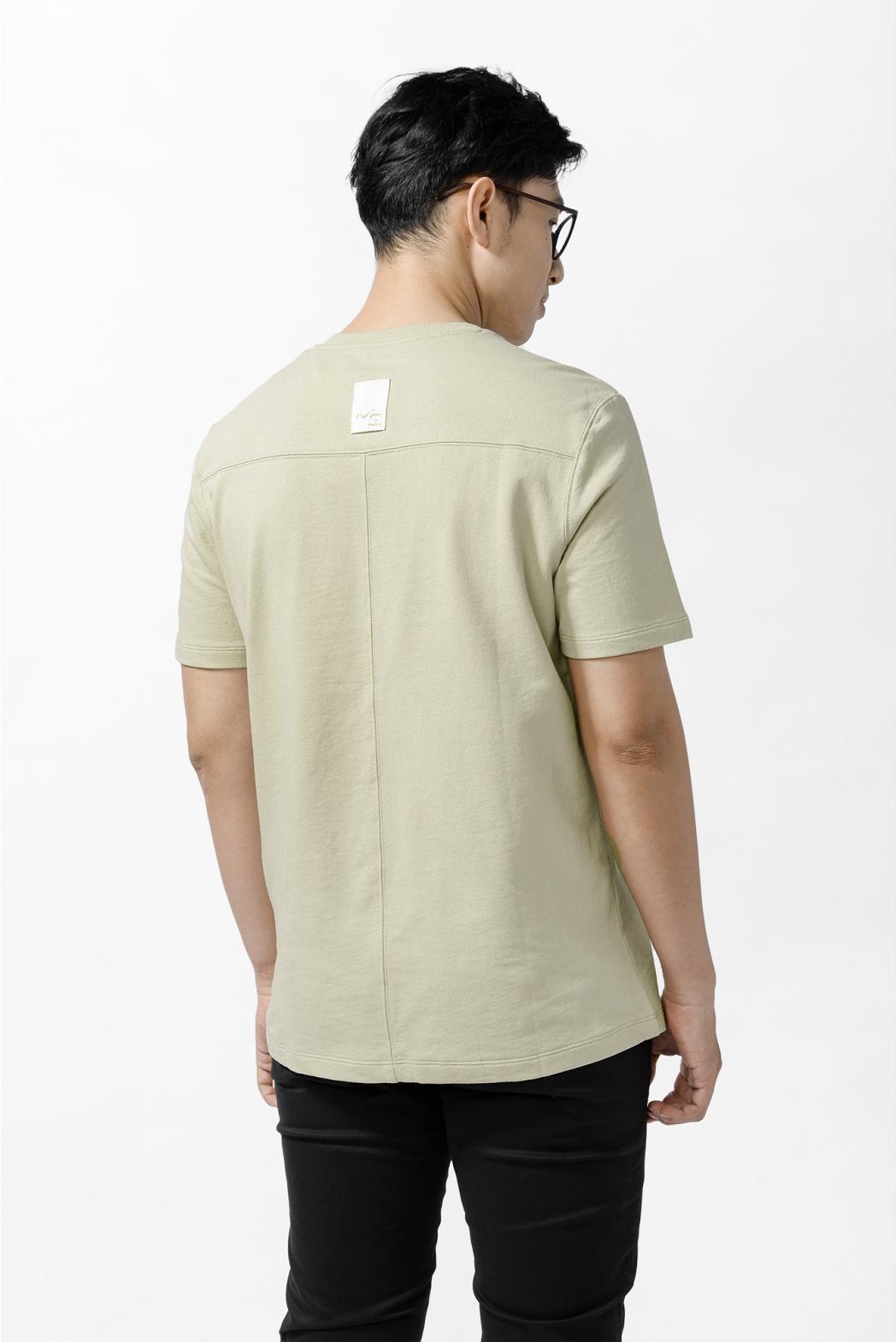 Áo thun tay ngắn, rã thân trước. REGULAR form - 10S21TSH008