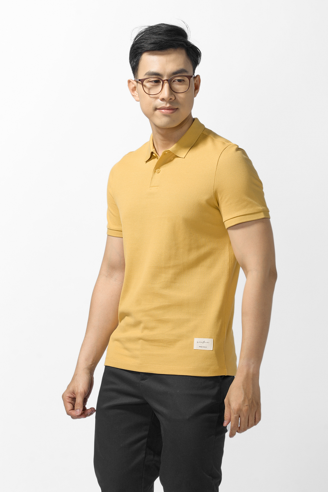 Áo Polo basic, Point label. FITTED form - 10F20POL026