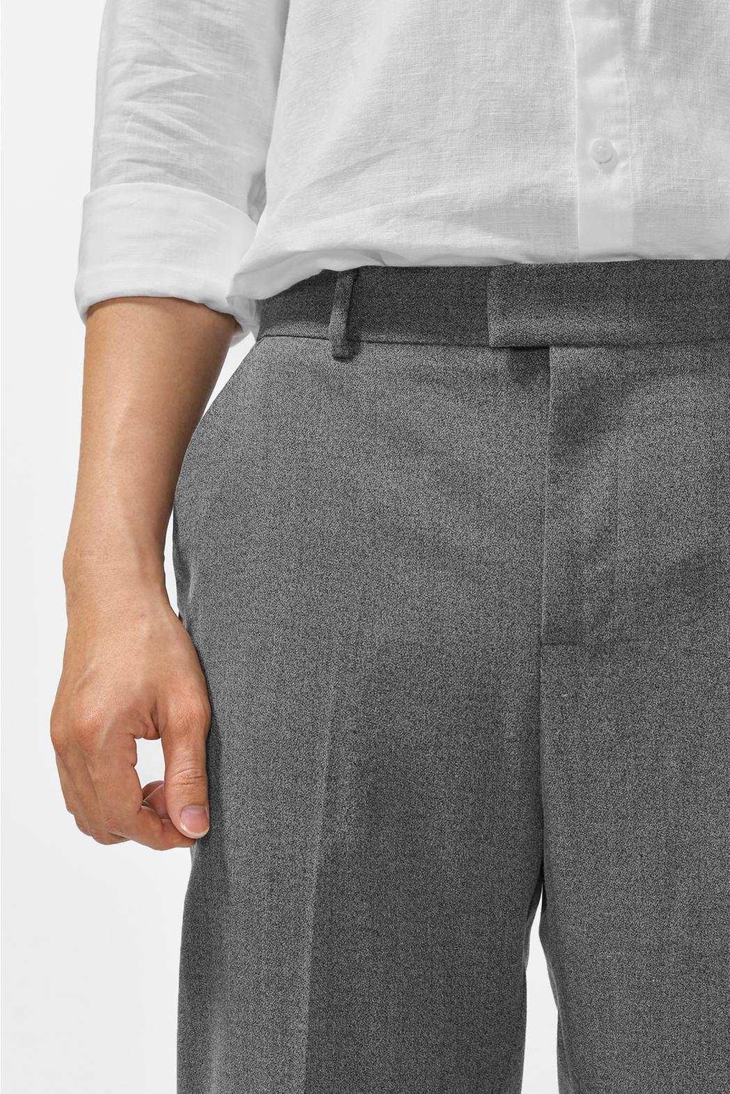 Quần vải BRUSHED FLANNEL. CARROT form - 10F20PFO013