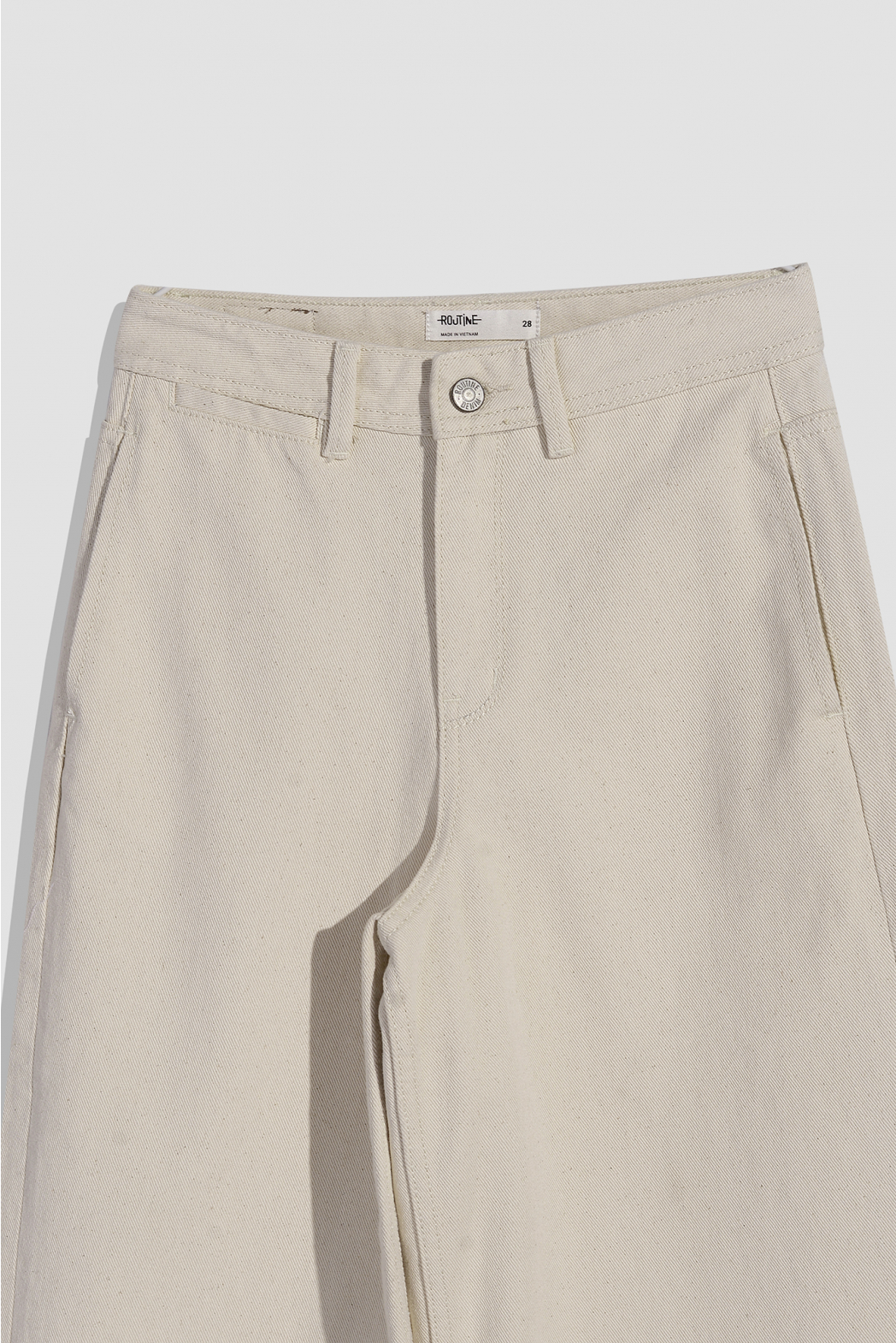 Quần Jean nữ lưng cao, 2 túi sườn - 10F20DPAW009