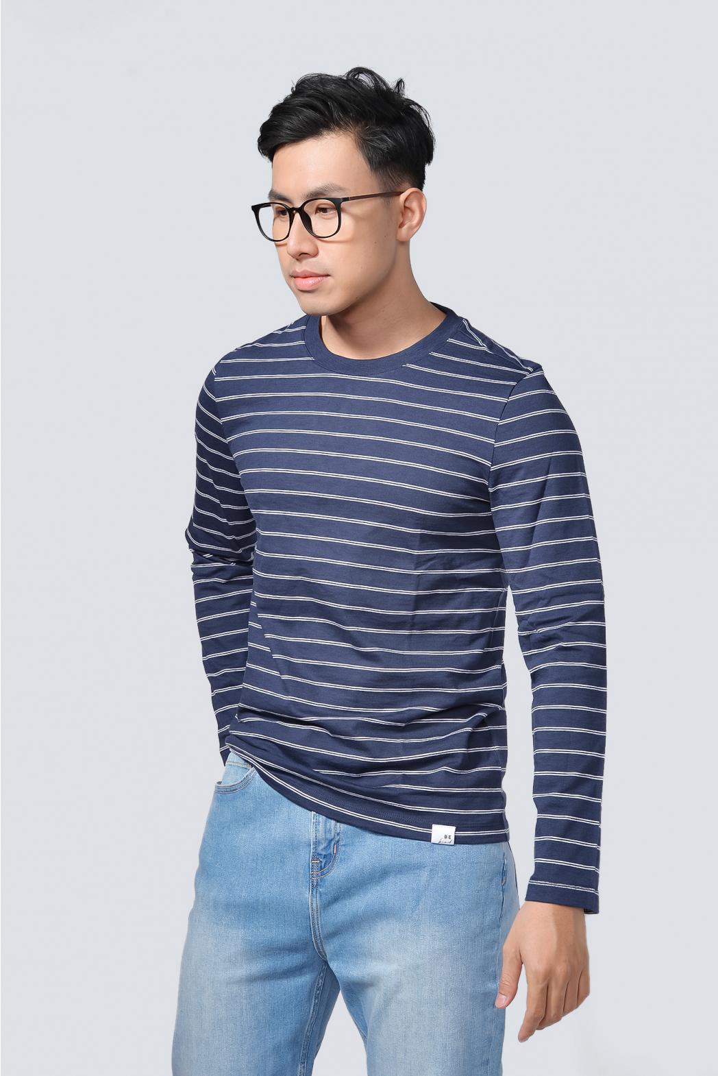 Áo thun tay dài, Stripe. FITTED form - 10F20TSH013