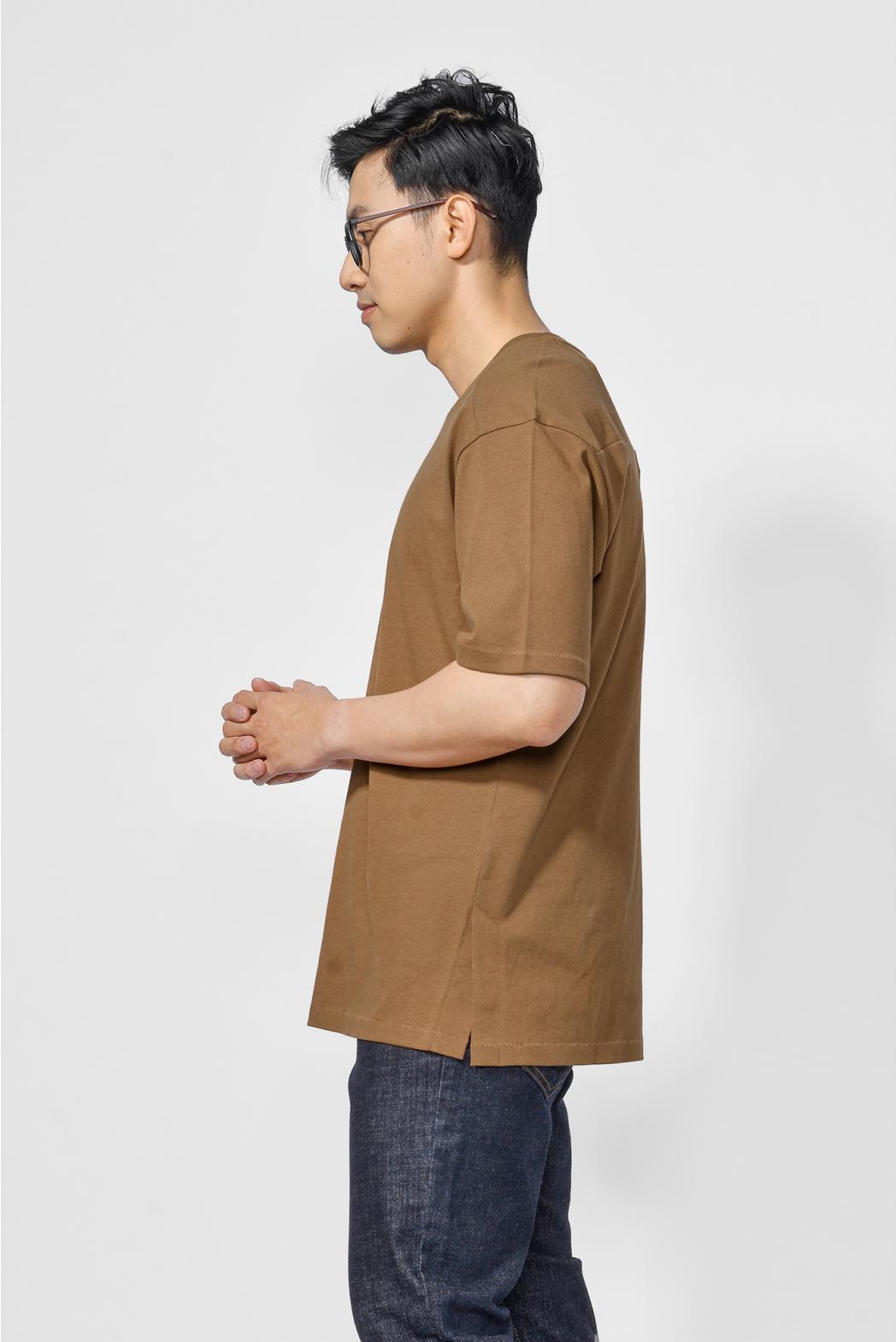 Áo thun tay ngắn, xẻ lai. LOOSE form - 10F20TSH019