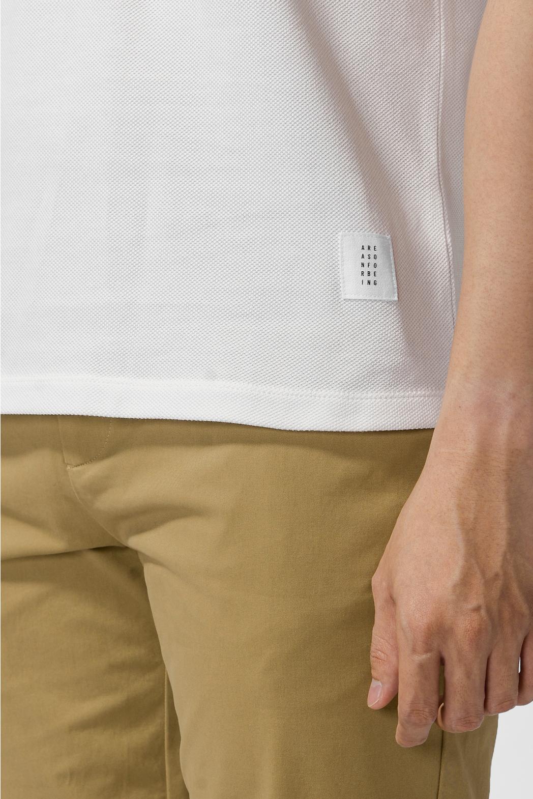 Áo Polo nẹp có nút, Point Label. FITTED form - 10F20POL020