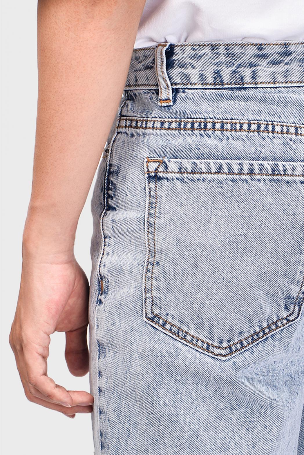 Indigo. Straight jeans rách gối DNP19-F19 - QJ213001