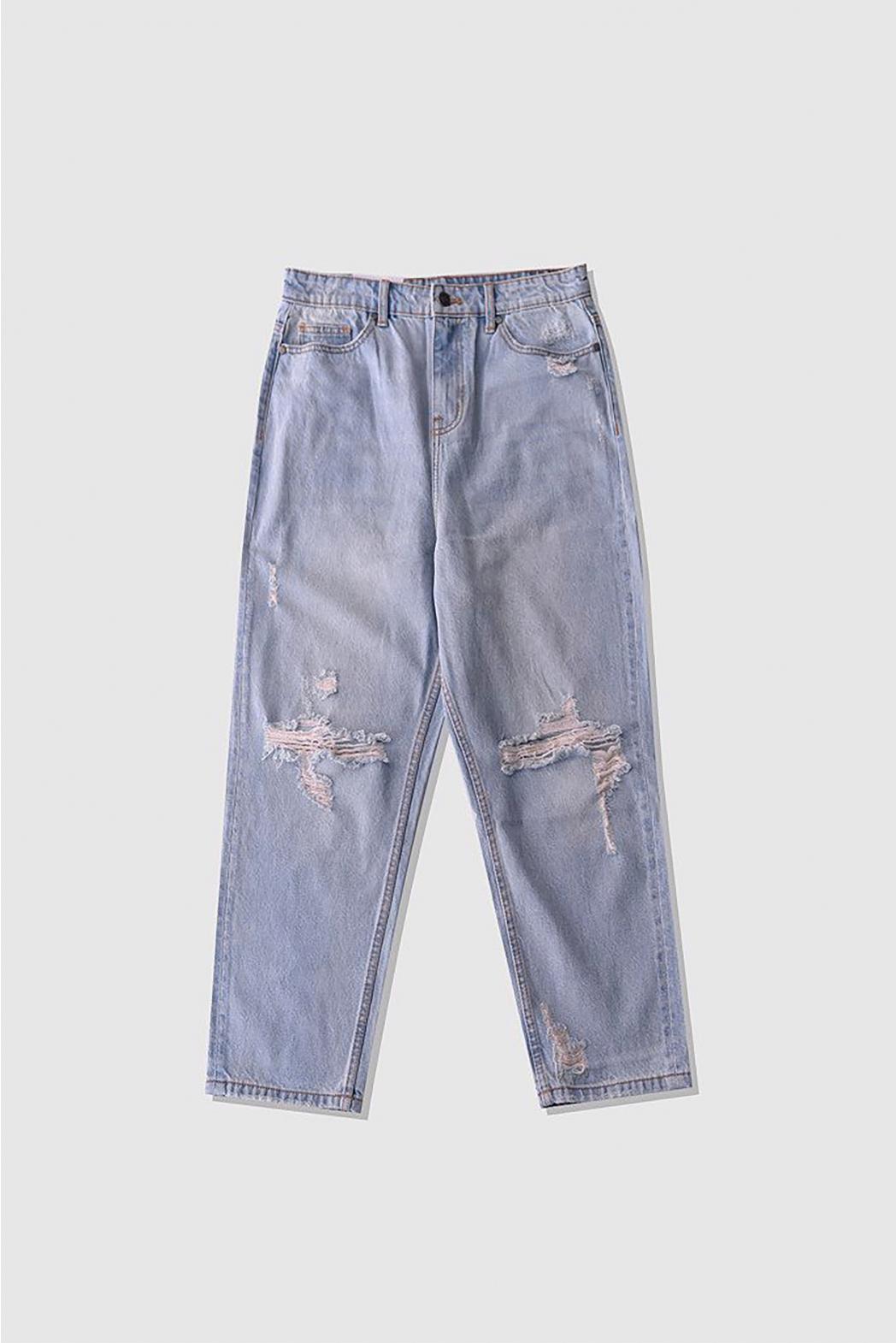 Indigo. Loose crop jeans rách DNP05-S20 - QJ229001